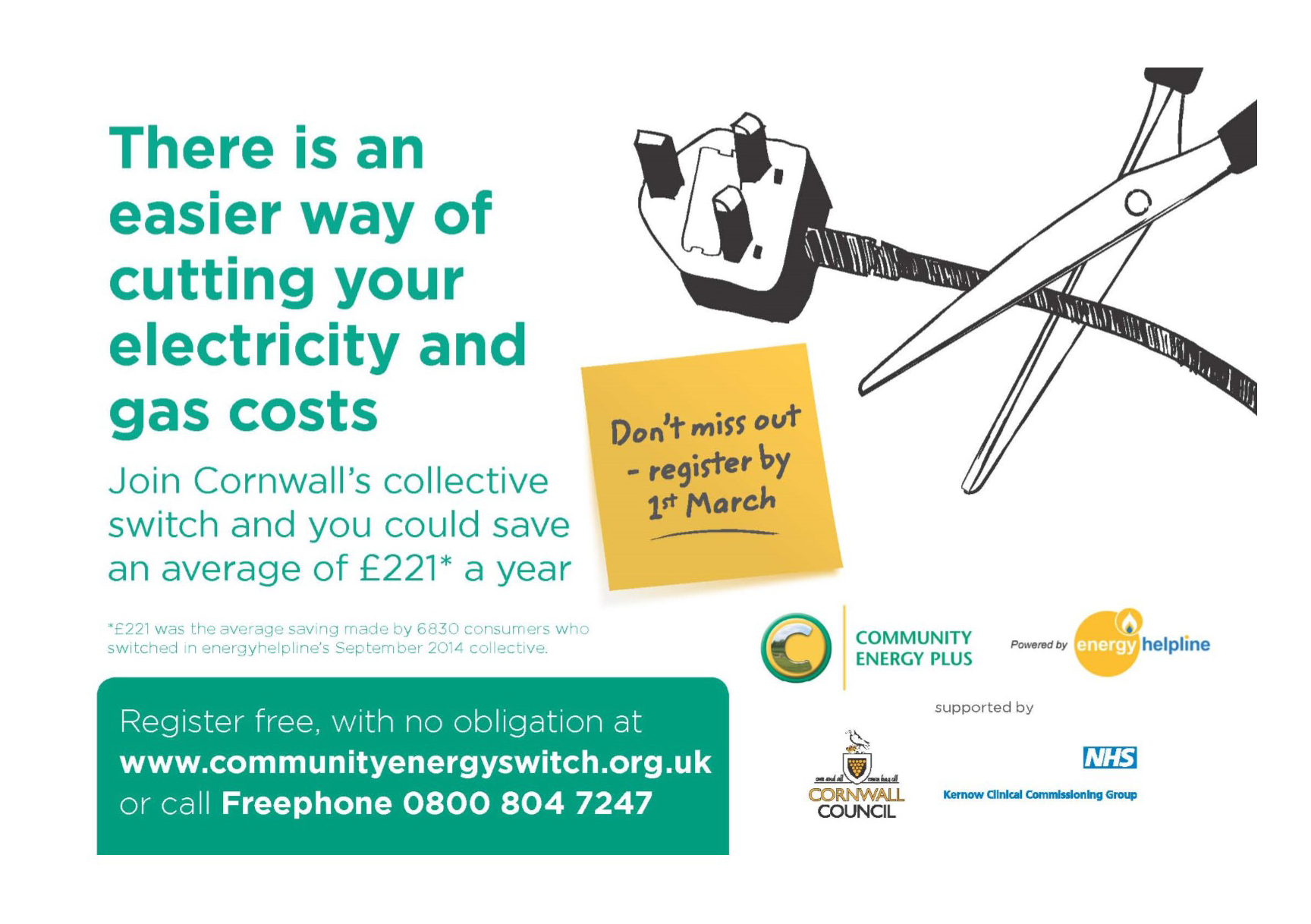 Image: Community Energy Switch advert